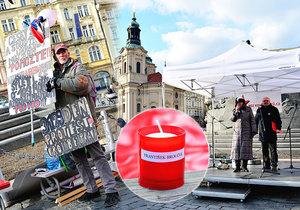 Pražané uctili památku obětí komunistického režimu. Na »Staromáku« hořely svíčky