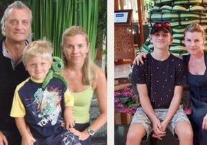 Leona Machálková se synem Arturem v Thajsku s Bořkem Šípkem a po devíti letech bez něj.