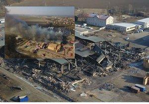 Příčina požáru v Mochově bude známá za několik týdnů.
