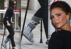 Victoria Beckham neodkládá své oblíbené boty na podpatcích ani po zlomenině nohy.