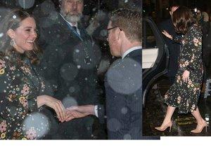 Vévodkyně Kate chodila v mraze jen v šatech.