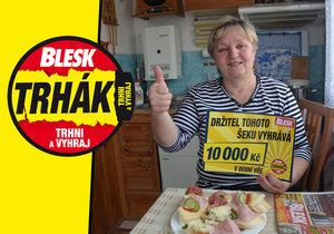 Květoslava Kadlecová (58), šťastná výherkyně 10 000 korun v Trháku Blesku.