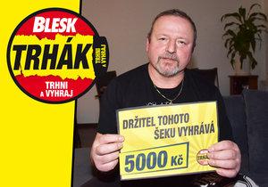 Petr Vincura (50) z Velkého Malahova na Domažlicku je dalším výhercem ve hře s Bleskem.