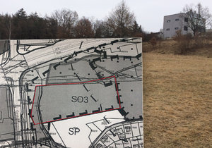 V těchto místech by mohl v příštích letech vzniknout ambiciózní projekt, který by propojil školy a komunitní centrum na okraji Modřanské rokle.