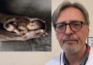 Profesor Richard Plavka se věnuje novorozencům ve VFN od roku 1986, vyprávěl neuvěřitelný příběh irské rodiny.