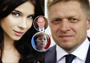 Milenka premiéra Fica, která má vazby na italskou mafii, se účastnila jednání s německou kancléřkou Merkelovou a tehdejším českým premiérem Sobotkou.