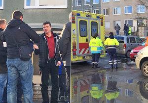 V Drimlově ulici nalezli svědkové tělíčko novorozence.