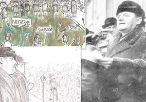 V rámci projektu platformy Bez komunistů.cz děti vytvořily ilustrace, které připomínají komunistickou éru.