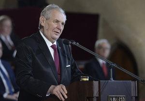 Útočný projev Miloše Zemana při inauguraci: Šil do Bakaly, ČT i poslanců TOP 09.