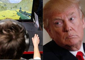 Prezidentu Trumpovi vadí násilí v počítačových hrách.