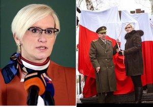 Ministryně obrany Karla Šlechtová se vyrazila poklonit československým legionářům na Ukrajinu.