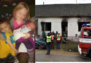 Při požáru staršího domku na Znojemsku zemřely dvě holčičky (†9) a (†1) a také jejich bráška (†4).