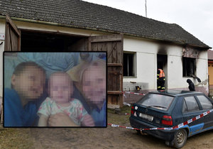 Tragédie na Znojemsku: Oheň způsobil v domku, kde zemřely tři děti, škodu za 400 tisíc