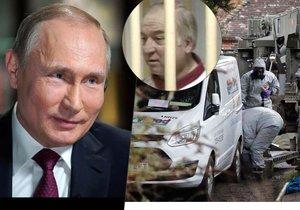 Ruský prezident Putin reagoval na dotaz o tom, zda Rusové mohou za otravu Skripalova, úšměškem