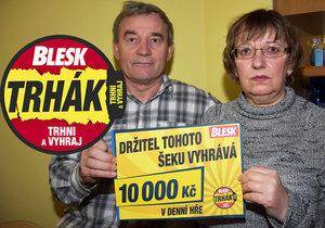 Výherkyně Hana Kubínová (63) se svým manželem Ladislavem (70).