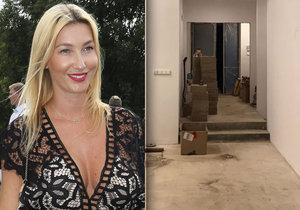 Sexbomba Mesarošová ukázala nové bydlení: Všude bordel a staveniště!