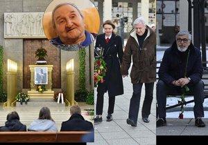 Na pohřeb Vlastimila Bedrny dorazil Bartoška i Heřmánek.