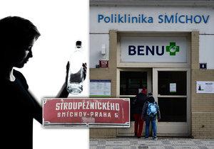 Policisté ve smíchovské klinice načapali lékařku ve značně podroušeném stavu.