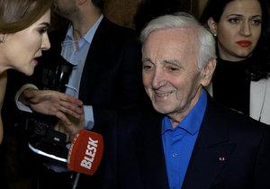 Zemřel Charles Aznavour (†94): Ještě v březnu v Praze vrkal s Verešovou!