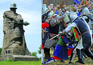 bitva u Sudoměře a socha Žižky