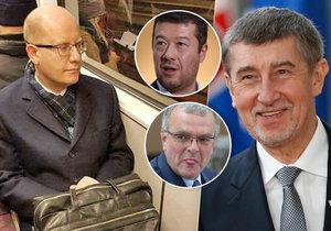 Konec Bohuslava Sobotky ve vrcholné politice okomentovali Babiš, Okamura i Kalousek.