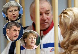 Ke kauze otráveného exšpiona Skripala se v Bruselu vyjádřili Merkelová, Mayová i Babiš.