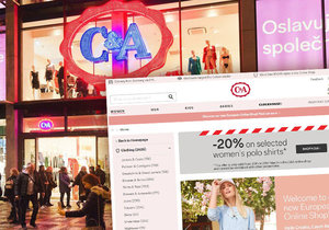 Obchod C&A spustil e-shop. Zboží posílá z Německa, nelze ho však vrátit na prodejnách.