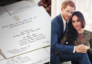 Princ Harry a Meghan: Už mají pozvánky na svatbu!