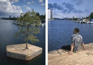 Unikátní ostrov s lípou zdobí přístav v Kodani