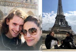Lucie Bílá odletěla za synem Filipem do Paříže.