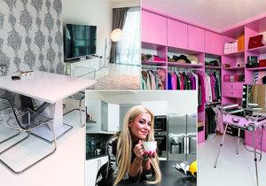 Růžové bydlení blogerky Dominiky Myslivcové.