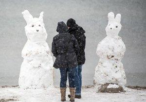 Bílé Velikonoce v Německu - Napadlo až 35 cm sněhu
