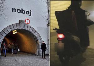 VIDEO: Chodci v ohrožení! Žižkovským tunelem pro pěší se prohánějí skútry, povolení nemají