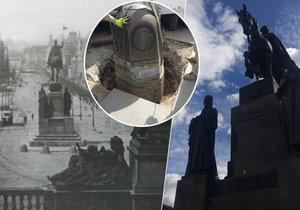 Socha svatého Václava a její okolí se v dubnu navrátí do své původní podoby.