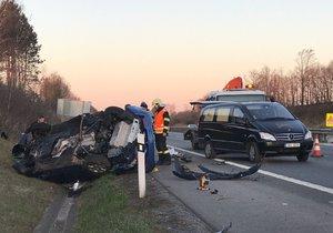 Smrtelná nehoda na dálnici D11