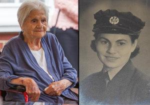Ve 104 letech zemřela nejstarší česká válečná veteránka: Anděla Haida byla řidičkou u RAF.