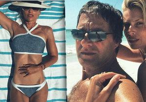 Daniela Peštová a Paľo Habera na pláži