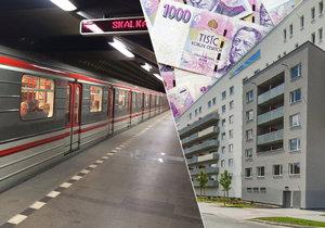 V Praze byty u metra stojí i několik milionů.