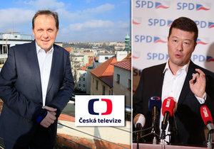 Okamura a jeho SPD šijí do České televize, kterou vede Petr Dvořák.