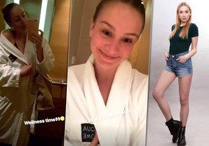 Anna Kadeřávková ukázala sexy tělo