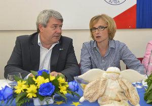 Kateřina Konečná se šéfem KSČM Vojtěchem Filipem