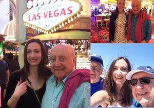 Felix Slováček s Lucií Gelemovou vyrazili na dovolenou do Las Vegas.