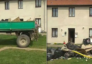Odpad dovezl majiteli před dům