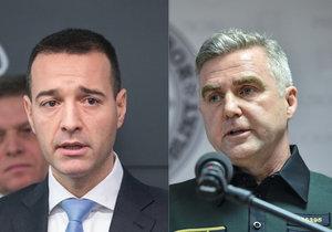 Slovenský ministr vnitra Tomáš Drucker a policejní prezident Tibor Gašpar