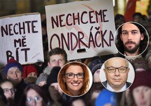 Na místo komunisty Zdeňka Ondráčka aspirují poslanci Majerová Zahradníková (ODS), Mašek (ANO) a Ferjenčík (Piráti)