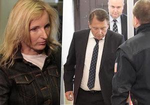 Jiří Paroubek se setkal s manželkou Petrou u soudu, ale nevěnovali si ani slůvko.