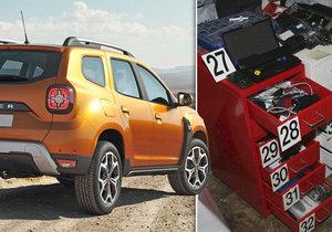 Dva zloději plenili pražská parkoviště: Ukradli přes třicet vozidel Dacia, došlápla si na ně zásahová jednotka