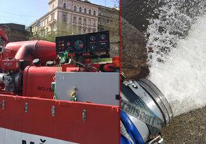 Až 30 tisíc litrů za minutu: Obří čerpadla pomohou pražským hasičům při povodních nebo nedostatku vody