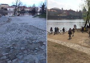Malostranská náplavka u Mánesova mostu je dnes nereprezentativní, plánovaná revitalizace má vše změnit.