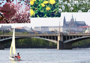 Počasí v Praze přeje volnočasovým aktivitám. Předposlední dubnová sobota byla nejteplejším dnem od začátku roku.